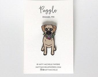 Puggle Enamel Pin