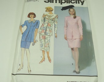 Simplicity Misses'/Miss Petite Two-Piece Dress In Two Lengths Pattern 7571 Size 18 - 22