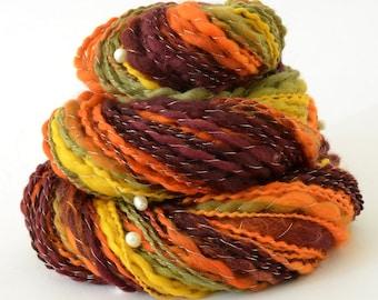 Handspun Yarn -  Merino Yarn - Freshwater Pearls - 1.75oz, 140yd, 14WPI