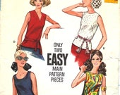 Easy Set of Tops Bust 36 Butterick 3318 Size 14 Vintage Sewing Pattern