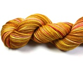Whiskey Sour--hand dyed sock yarn, 2ply merino and nylon, (400yds/100gm)