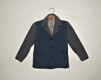 Vintage 50s Rayon Gabardine Rockabilly Hollywood Jacket Boy's 6-8