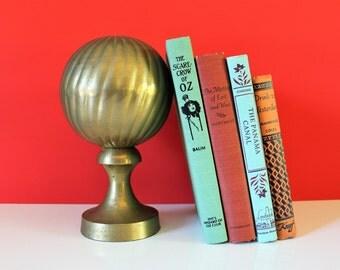 VINTAGE brass / brass / brass bookend /vintage bookend / housewarming gift / vintage housewarming / vintage office