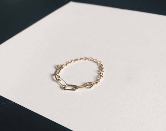 Link + Cable Chain Midi Ring