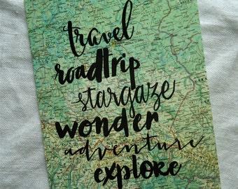 Wanderlust To Do List Card