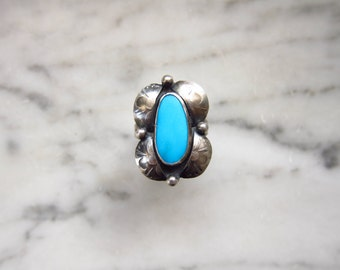 Sleeping Beauty Turquoise and Sterling Silver ring       size 7