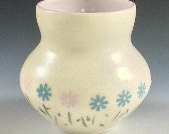 Blue, White, Pink Flower Vase