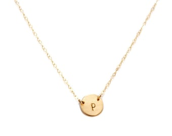 Petite Initial Necklace, Dainty Necklace, Silver, Rose or Gold Necklace, Gift For Her, Simple Necklace, Personalized Necklace