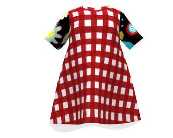 Toddler Dress Gingham Red