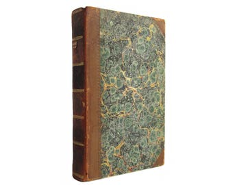 Illustrations of Anglo-Saxon Poetry - One of the first editions of BEOWULF ever printed from 1826 with leather binding - Free US Shiping