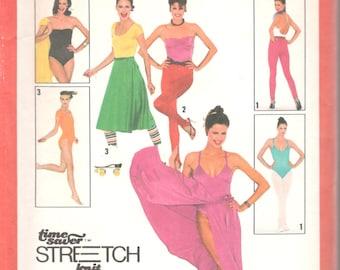 Simplicity 9271 1980s Misses Bodysuit Body Pants Wrap Skirt Leotard Pattern Womens Vintage Sewing Pattern Size 12 14 16 Bust 34 36 38 UNCUT