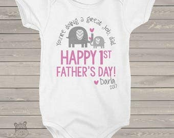 First Father's Day shirt or bodysuit - You're doing a great job dad - adorable 1st Father's Day gift from daughter MDF1-090