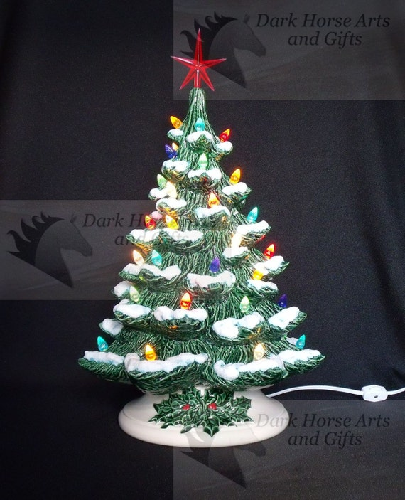 Old Fashioned Wedding Songs: Old Fashioned Ceramic Christmas Tree W/ Snow 19 Inches
