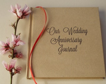 Personalized First Wedding Anniversary Gift * Custom Anniversary Journal * Wedding Anniversary Keepsake * Paper Anniversary Gift