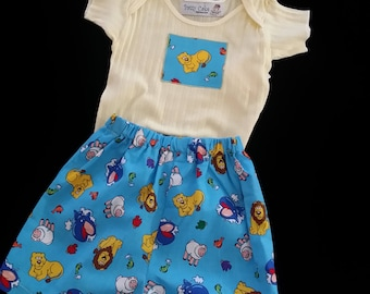 Baby Boy Infant Boxer Shorts and Appliqued T-Shirt