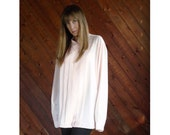 Pink Pleated l/s Oversized Blouse Shirt - Vintage 90s - 3XL