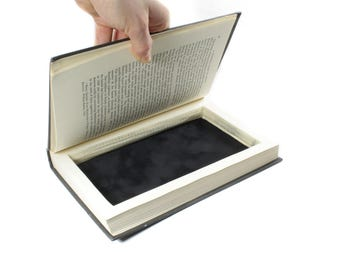 "Black Music Hollow Book Box ""100 Years Of Music"" Vintage Musical Theme Secret Book Shelf Storage Birthday Groomsmen Gift - READY TO SHIP"