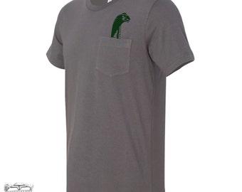 Mens LOCHNESS Pocket Tee T Shirt S M L XL XXL