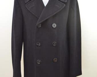 on sale Vintage U.S. NAVY PEACOAT dated 1971 heavy wool Pembroke sz. 38R
