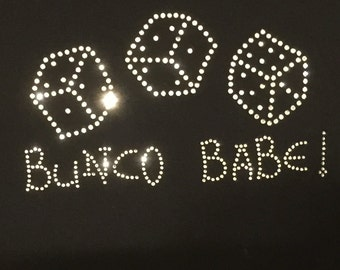 Bunco T-Shirt, Bunco Babe Rhinestone Design, Bunco Shirts, Bunco Tees, Bunco T-Shirts, Ladies Tees, Ladies T-Shirts, Ladies Shirts, Bunco