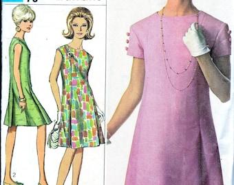 Vintage Sewing Pattern 1960s Princess Line Dress Designer Fashion Dress DIY Hipster Classic 60's Summer Dress Simplicity 6960 Bust 34