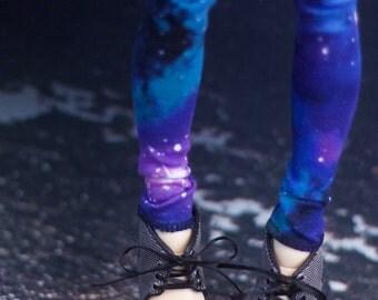 Dark Galaxy Print Leggings for Minifee BJD MNF MSD Universe Pants Made to Order