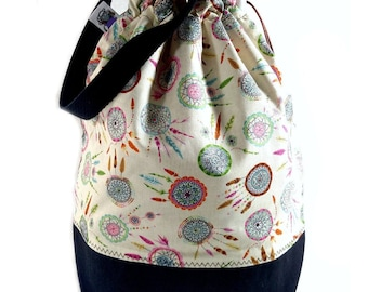 Large Two Project Knitting Project Bag Crochet Tote - Dream Catcher