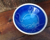 Blue Happy Whale Bowl / Single Serving Size