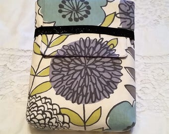 BIBLE COVER Bible Clutch Bible Sleeve CUSTOM Fit to protect your Bible inside Tote. Purple Floral