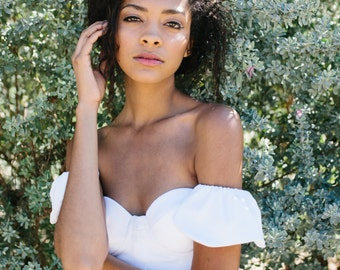 Bridget Top // bridal crop top