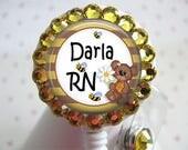 Nurse Retractable ID Badge Holder, Nurse Badge Reels, ID Badge Holders, ID Badge Reel  Retractable Badge Holders, Cute Bear