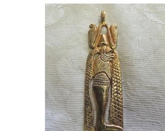 Kenneth J. Lane Egyptian Pendant, Signed Vintage Pendant, Anubis Pendant, God of Underworld, Steampunk, Goth - REDuCED