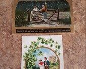 Vintage Irish postcards, celebrate St. Pats's Day with Irish decor, vintage Ireland, by Styx River Art