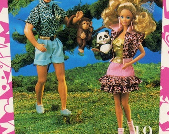 """Barbie Collectible Trading Card - """"Animal Lovin' Barbie & Ken"""" -Card No. 103 for Barbie collectors, dioramas, Barbie Ken History"""