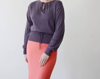 1970s Purple Sweater - M/L