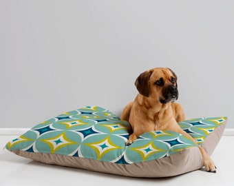 Midcentury Modern Geometric Dog Bed Pillow // Pet Bedding // Animal Pillow // Pet Cushion // Retro Style // Astral Slingshot // Dog Bed