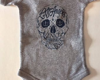 Babies Infants Skull Los Angeles Venice Beach California Onesie Bodysuit