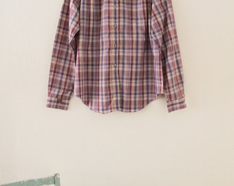 80's Lee Plaid Blouse