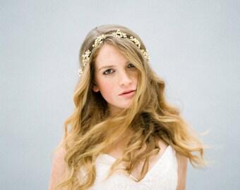 Crystal Hair vine, Bridal Headband, Wedding Headband, Crystal headband, Crystal Headpiece, Bridal Hair Vine, Nature inspired - Style 608