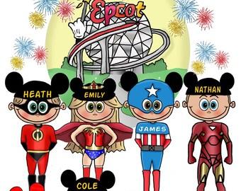 EPCOT Vacation Shirts - Disney Epcot Matching Shirts - Matching Epcot shirts - Family Epcot Shirts - Group Epcot Shirts - Family Group Epcot
