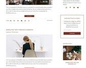 WordPress Blog Theme - Beauty WordPress Design -  WordPress Theme - WordPress Blog Theme - Blog Design and Installation - Evelyn II