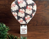 Hot Air Balloon Wood Tabletop Standing Sign Decor