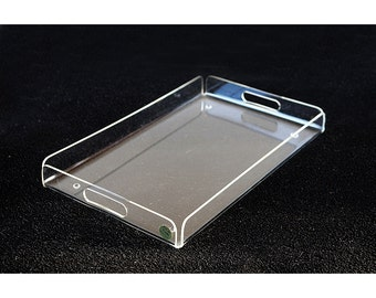 "20"" NeW LUCITE Tray Plexi-Art Designs Serving Acrylic Office Tray Desk Organizer Centerpiece Mid Mod Mid Century"