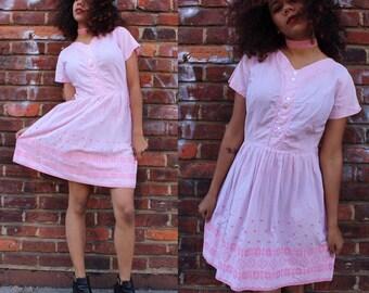 Vintage Sweetheart Pink Dress