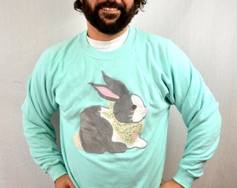 Vintage 80s Rabbit Bunny Cute Sweatshirt
