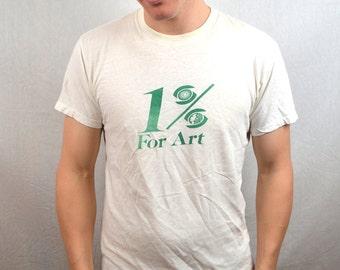 Vintage 1% for Art Soft Tee Shirt Tshirt