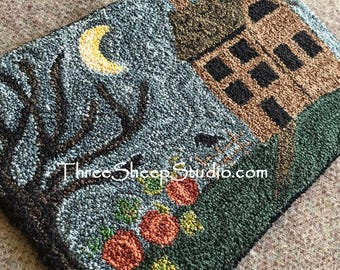 Punch Needle Pattern - Still Of The Night - #PN508 - Needlepunch Embroidery