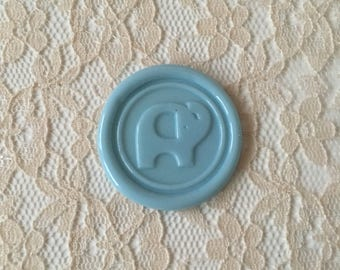 Elephant Peel  and Stick Flexible Wax Seals, 1.2 Inches in Size with One Inch Adhesive