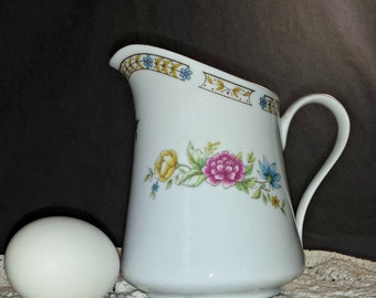 Vintage Liling Fine China Cream Pitcher / Ling Rose Pitcher / Liling Ling Rose Cream Pitcher