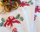 """Reserved - Festive Napkins, Battenburg Lace, Monogrammed with Letter """"B"""", Embroidered, Cottage Charm, by mailordervintage on etsy"""